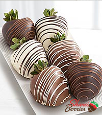 Shari's Berries™ Limited Edition Chocolate DippedStrawberries - Triple Dipped - 6-piece