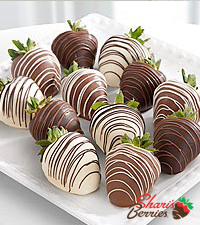 Shari's Berries™ Limited Edition Chocolate Dipped Strawberries - Single Dipped - 12-piece