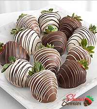Shari's Berries™ Limited Edition Chocolate Dipped Strawberries - Double Dipped - 12-piece