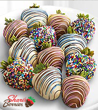 Chocolate Dipped Celebrations Strawberries-Double-12pc