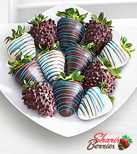 Chocolate Dipped Just for You Dad Father's Day Strawberries -12-piece