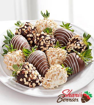 Chocolate Dip Delights™ Nuts About Berries Real Chocolate Covered Strawberries - 12-piece