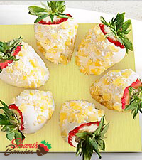 Chocolate Dip Delights™ Pina Colada Real White Chocolate Covered Strawberries - 6-piece