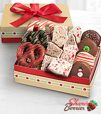 Shari's Berries™ Limited Edition Chocolate Dipped Holiday Sweet Sensations Gift Box