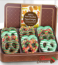 Shari's Berries™ Limited Edition Chocolate Dipped Pretzels for Fall
