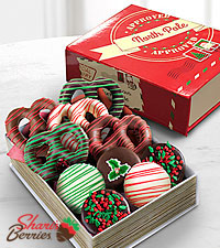 Shari's Berries™ Limited Edition Chocolate Dipped North Pole Book Box