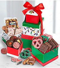 Shari's Berries™ Limited Edition Chocolate Dipped Happy Holidays Gourmet Gift Tower