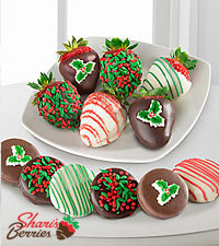 Shari's Berries™ Limited Edition Chocolate Dipped Holiday Oreo™ Cookie & Berry Combo