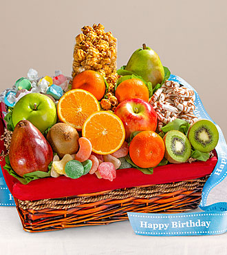 Happy Birthday Gourmet Fruit Basket - GOOD