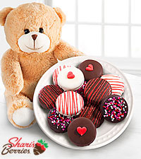 Valentine's Day Plush Bear & Chocolate Covered Oreo® Combo