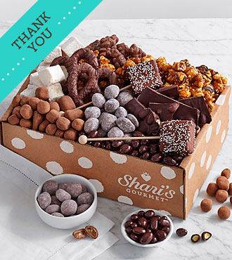 Chocolate Bliss Box - Thank You Ribbon