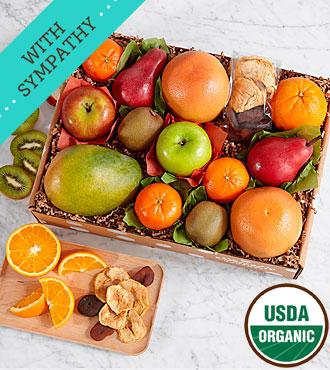 Organic Fresh & Dried Fruits - Sympathy Ribbon