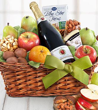 Organic Napa Cider and Fruit Basket