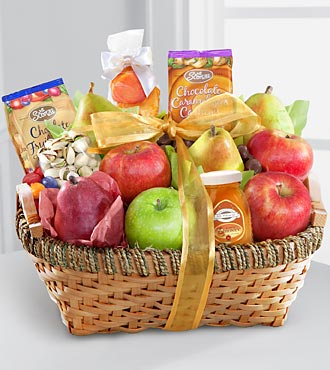 Warmhearted Wishes Fruit & Gourmet Kosher Gift Basket