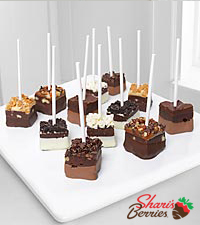 Chocolate Dip Delights™ Real Chocolate Covered Dipped Brownie Pops
