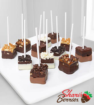 Belgian Chocolate Dipped Brownie Pops