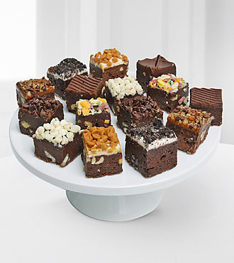 Belgian Chocolate Dipped Brownie Bites