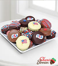 Shari's Berries™ Limited Edition Chocolate Dipped Sweet Land of Liberty Oreo® Cookies
