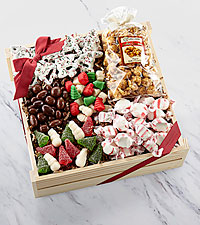 Holiday Delights Chocolate & Sweets Gourmet Gift Basket - GOOD