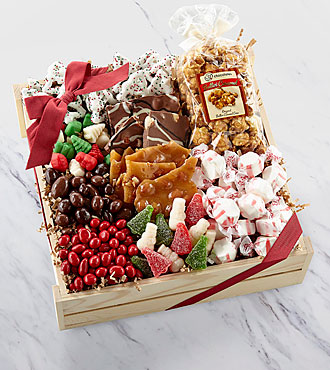Holiday Delights Chocolate & Sweets Gourmet Gift Basket - BETTER