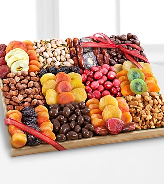 Season's Snacks Holiday Dried Fruit, Nuts & Sweets Tray - BEST