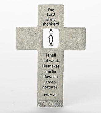 The Lord is My Shepherd Wall Cross