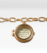 Give a Blessing Round Locket Bracelet
