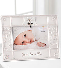 Jesus Loves Me New Baby Frame