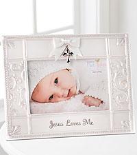 Jesus Loves Me New Baby Frame