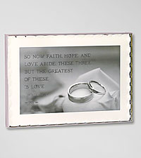 Faith, Hope, Love Keepsake Wedding Plaque