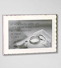Faith, Hope, Love Keepsake Wedding Plaque