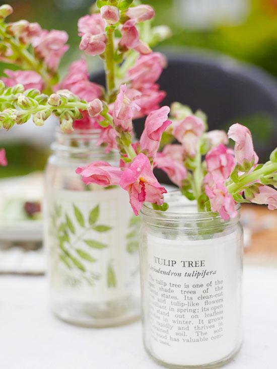 Glass Jar Mother's Day Vase