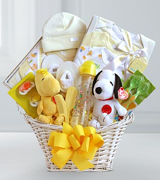 Peanuts Baby Welcome Basket