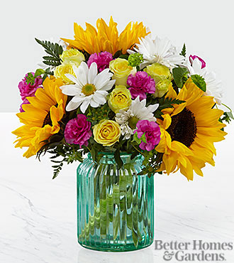 Le bouquet Sunlit Meadows™ de FTD® par Better Homes and Gardens® - VASE INCLUS
