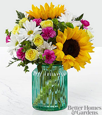 The FTD® Sunlit Meadows™ Bouquet by Better Homes and Gardens® - VASE INCLUDED