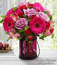 The FTD® Pink Exuberance Bouquet by Better Homes and Gardens® - VASE INCLUDED