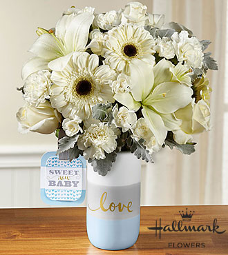Sweet Baby Boy™ Bouquet by Hallmark - VASE INCLUDED