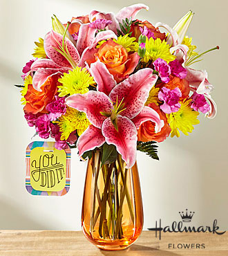 Le bouquet You Did It!™ par Hallmark - VASE INCLUS