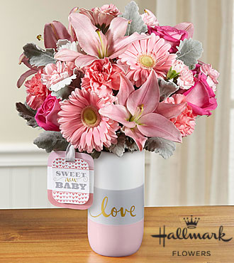 Sweet Baby Girl™ Bouquet by Hallmark - VASE INCLUDED