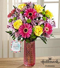 The FTD® Happy Moments™ Bouquet by Hallmark - VASE INCLUDED