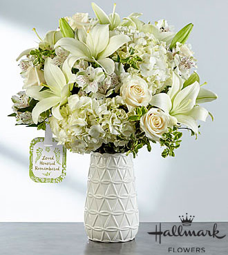 Loved, Honored and Remembered™ Bouquet by Hallmark - VASE INCLUDED