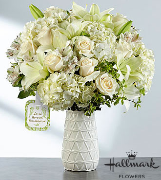 The FTD® Loved, Honored and Remembered™ Bouquet by Hallmarkk - VASE INCLUDED