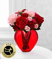 Le bouquet de roses My Heart to Yours&trade; de FTD<sup>®</sup> - VASE INCLUS