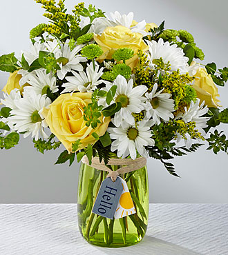 Le bouquet Hello Sun™ – VASE INCLUS