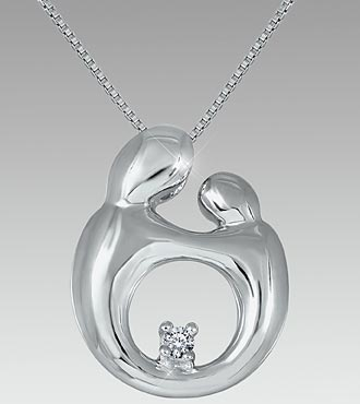 A Special Touch Diamond Sterling Silver Pendant