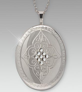 Oval Locket with Swarovski Crystals
