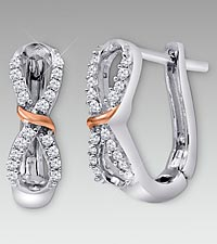 0.16 cttw Diamond Sterling Silver Eternity Earrings