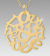 Love & Be Loved Gold over Sterling Silver Medallion