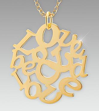 Love & Be Loved Gold over Sterling Silver Medallion