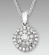 1/2cttw Diamond 14kt White Gold Pendant